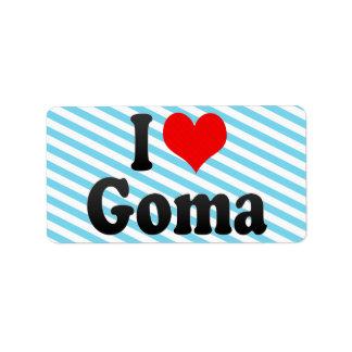 I Love Goma, Congo Personalized Address Labels