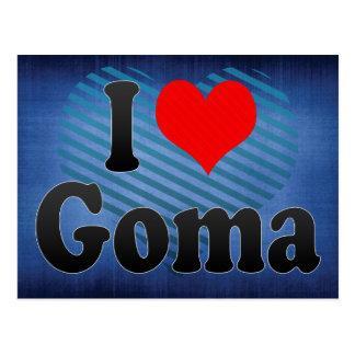 I Love Goma, Congo Postcard
