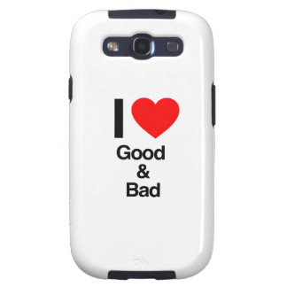 i love good and bad galaxy s3 covers