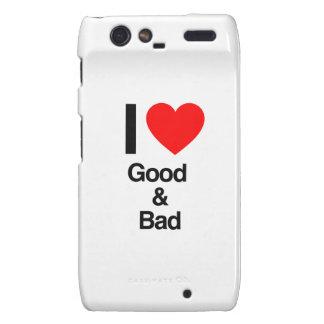 i love good and bad motorola droid RAZR cover