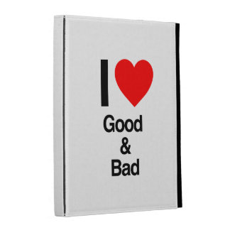 i love good and bad iPad folio case