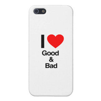 i love good and bad iPhone 5/5S cover