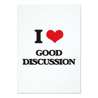 I love Good Discussion 5x7 Paper Invitation Card