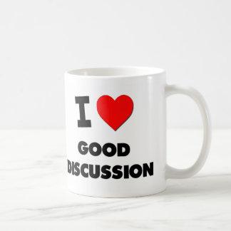 I Love Good Discussion Classic White Coffee Mug