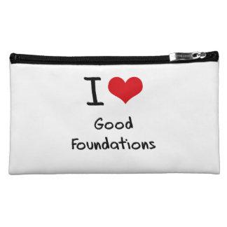 I Love Good Foundations Cosmetic Bag