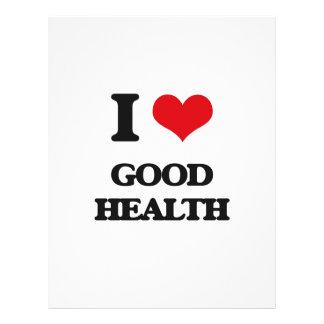 "I love Good Health 8.5"" X 11"" Flyer"