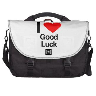 i love good luck laptop bag