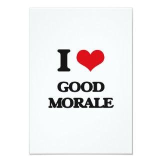 I love Good Morale 3.5x5 Paper Invitation Card