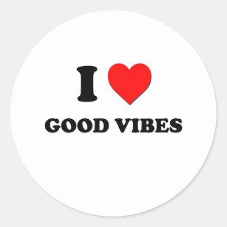 I love Good Vibes Classic Round Sticker