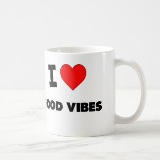 I love Good Vibes Classic White Coffee Mug
