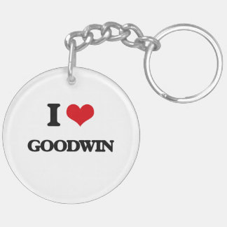 I Love Goodwin Double-Sided Round Acrylic Keychain
