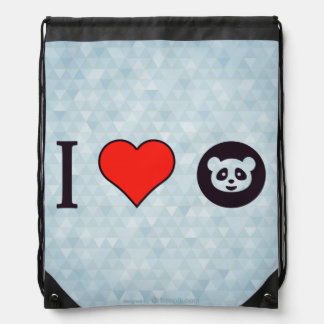 I Love Google Drawstring Bag