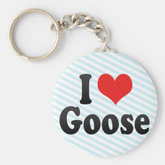I Love Goose Keychains