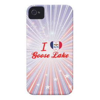 I Love Goose Lake, Iowa iPhone 4 Cover