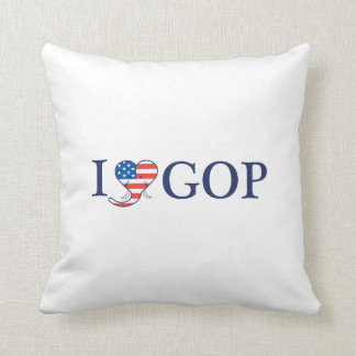 """I Love GOP"" 16"" x 16"" Pillow. Throw Pillow"