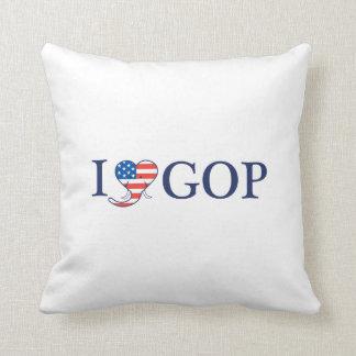 """I Love GOP"" 16"" x 16"" Pillow. Throw Pillow"