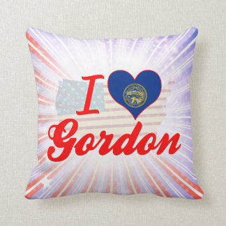 I Love Gordon, Nebraska Pillow