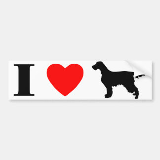 I Love Gordon Setters Bumper Sticker