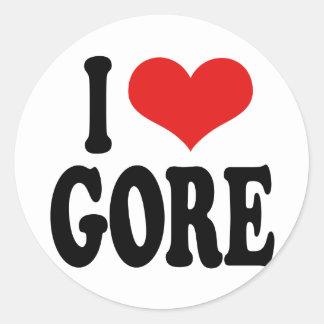 I Love Gore Classic Round Sticker