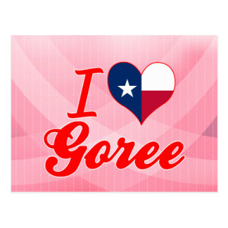 I Love Goree, Texas Postcard