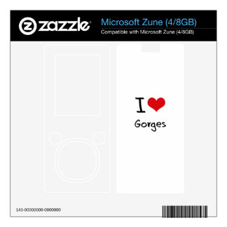 I Love Gorges Decals For The Zune