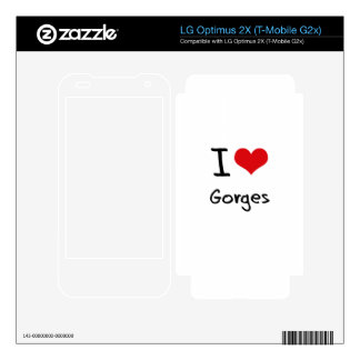 I Love Gorges Decals For LG Optimus 2X