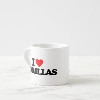 I LOVE GORILLAS 6 OZ CERAMIC ESPRESSO CUP