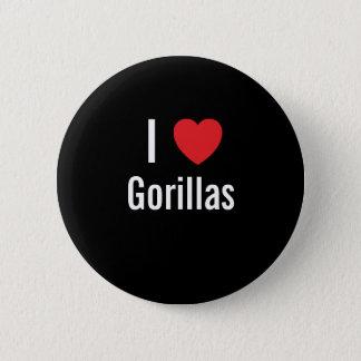I love Gorillas Button