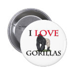 I Love Gorillas Buttons