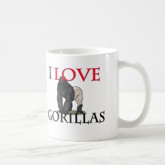 I Love Gorillas Classic White Coffee Mug