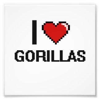 I love Gorillas Digital Design Photo Print