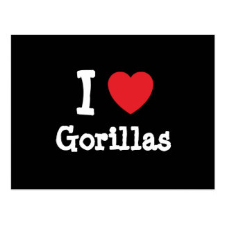 I love Gorillas heart custom personalized Postcard