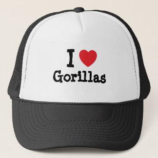 I love Gorillas heart custom personalized Trucker Hat