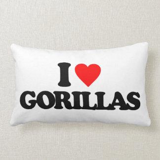 I LOVE GORILLAS LUMBAR PILLOW