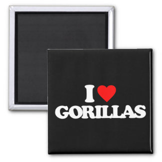 I LOVE GORILLAS MAGNET