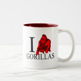 I Love Gorillas Mugs