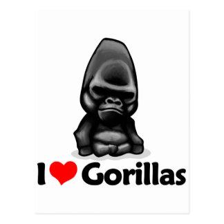 I Love Gorillas Postcard