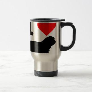 I love Gos d'atura Catalan shepherd sheeperdog Travel Mug