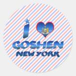 I love Goshen, New York Round Sticker