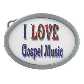I LOVE GOSPEL MUSIC-BELT BUCKLE OVAL BELT BUCKLE