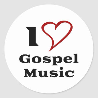 I Love Gospel Music Classic Round Sticker