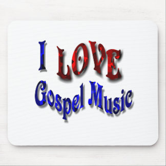 I LOVE Gospel Music-Mousepad-W-2 Mouse Pad