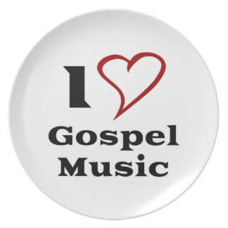 I Love Gospel Music Party Plates