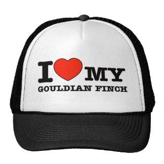 I Love  gouldian finch Trucker Hat