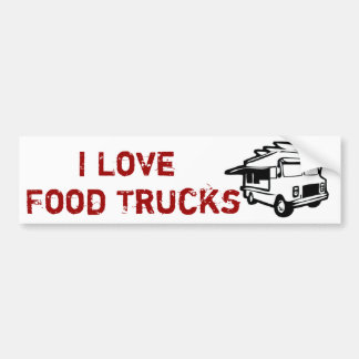 I love gourmet restaurants on wheels car bumper sticker