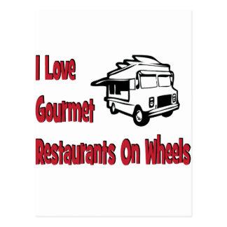 I love gourmet restaurants on wheels postcard