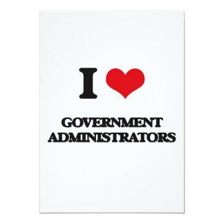 I love Government Administrators 5x7 Paper Invitation Card