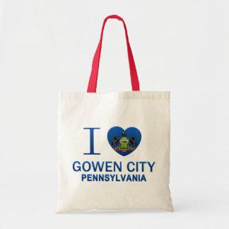 I Love Gowen City, PA Canvas Bags