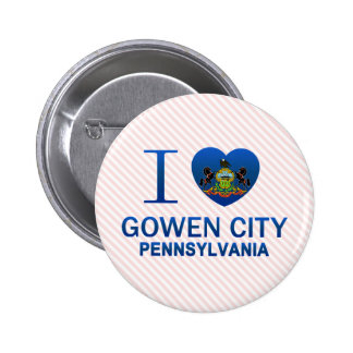 I Love Gowen City, PA Button