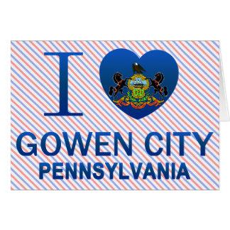 I Love Gowen City, PA Cards